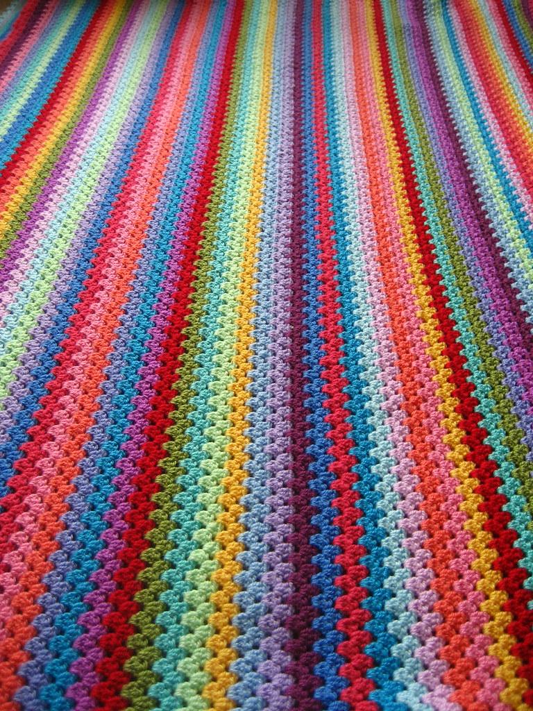 Granny Stripe Granny Stripe Blanket Worked In Acrylic Yarn Flickr