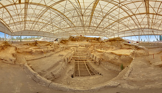 Çatalhöyük south shelter panorama | by sdhaddow