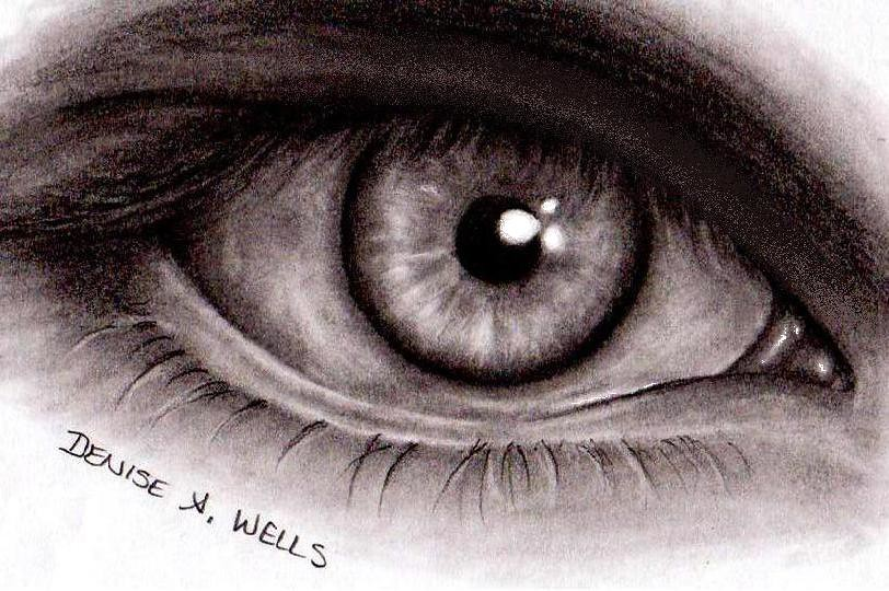 Ista Eye Realistic Eye Drawing By Denise A Wells By  E2 99 A5