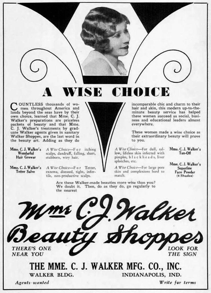 madam cj walker coloring page - madam cj walker beauty shoppes advertisement march 1930