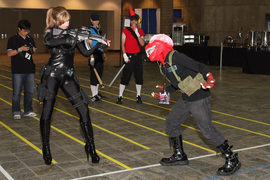 umbrella corp agent vs licker monster from the resident e flickr