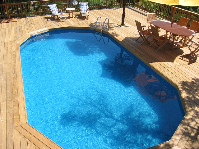 Large wooden decking san antonio tx flickr photo sharing for Above ground swimming pools near me