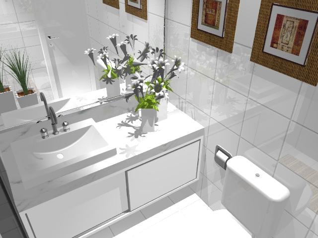 Banheiro planejado 1  Banheiro planejado com armários branc…  Flic -> Armario Para Banheiro Planejado Curitiba