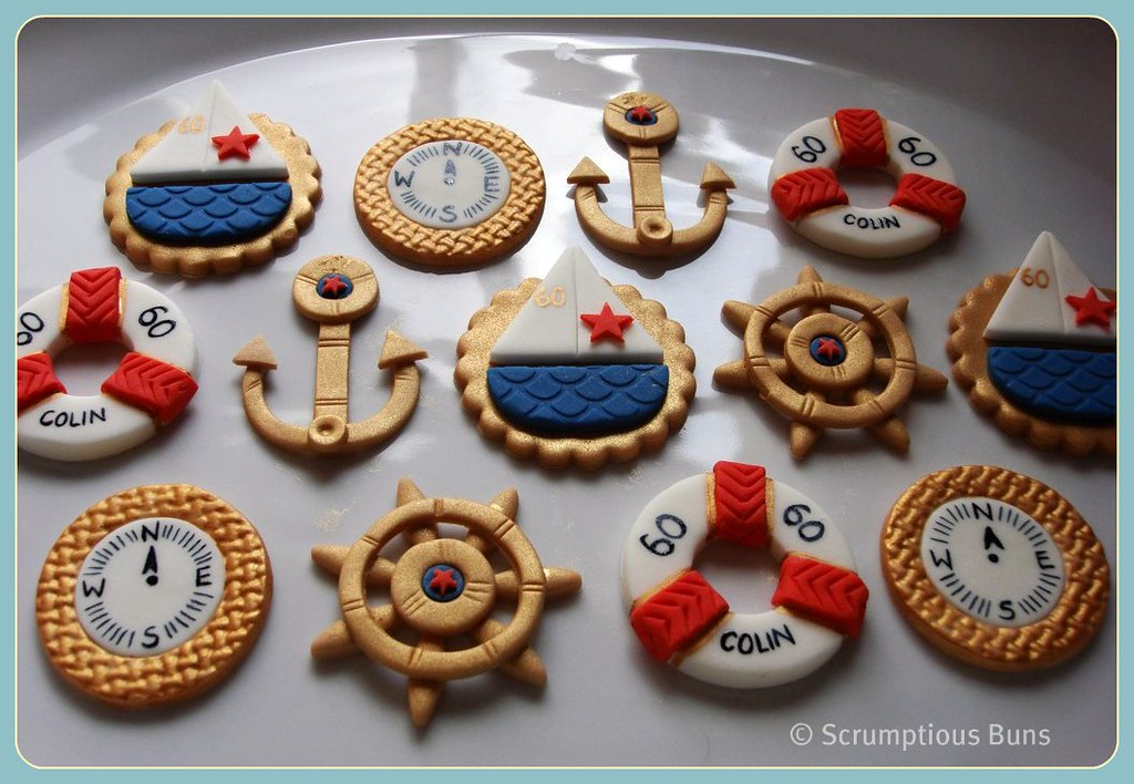 Nautical Cupcake Toppers This Is My 2nd Order For