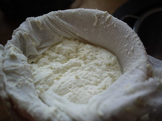 Ricotta Salata - Curds drained | by grongar
