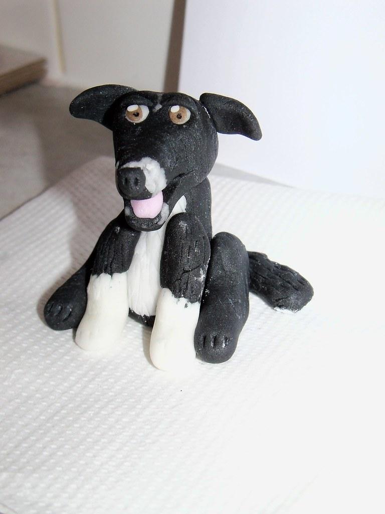 Edible Dog Cake Images : Border Collie Dog sugarpaste Come find me on my Facebook ...