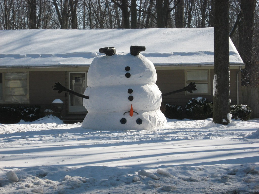 Upside down snowman there s this house on clague road in