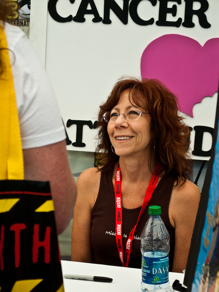 Mindy sterling shot at san diego comic con 2010 on friday