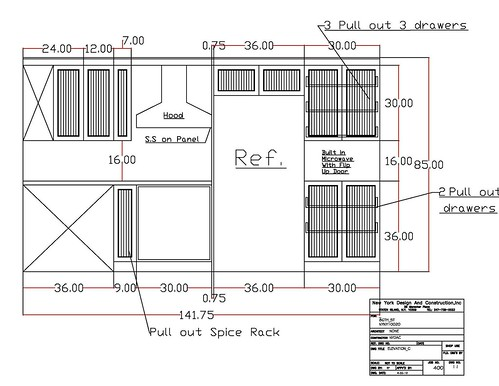 86th St Kitchen Auto Cad Drawing 86th St Kitchen Auto Cad Flickr