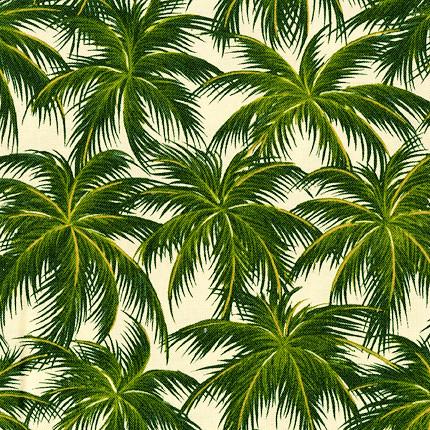 Palm Tree Garden | 100% Cotton Fabric yardage ...