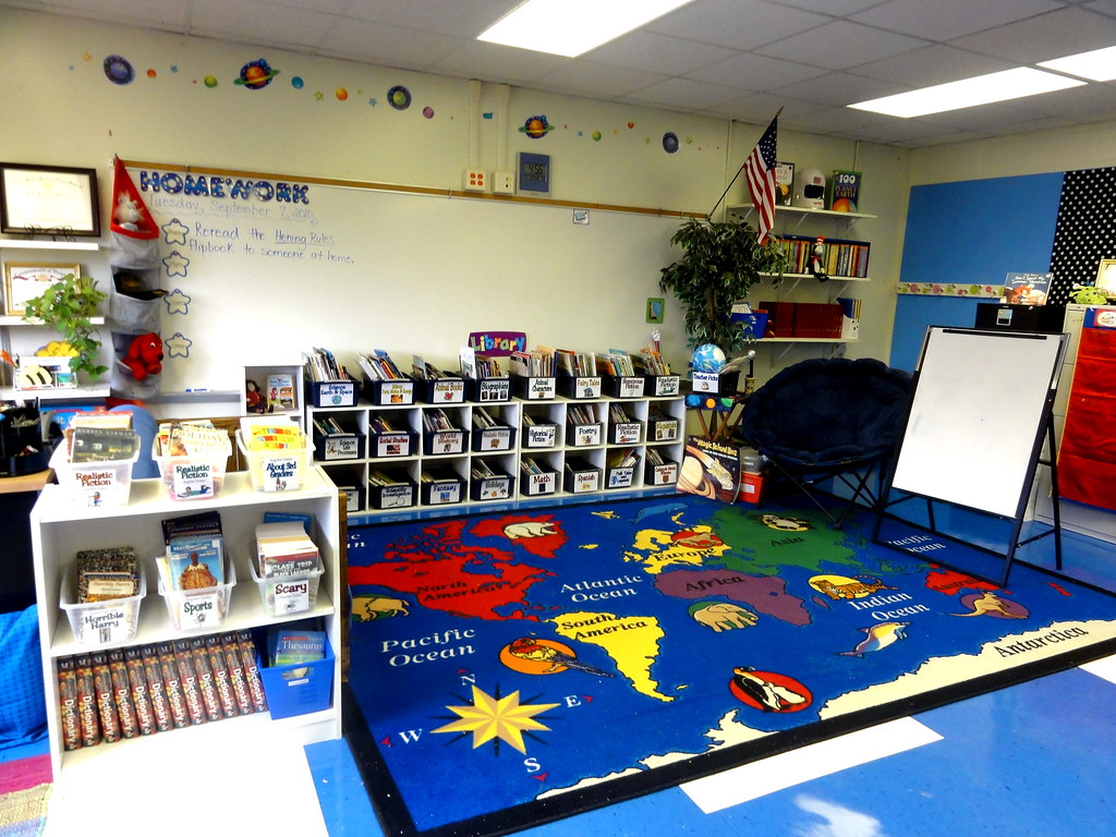 Classroom Theme Ideas Grade ~ Rd grade classroom group meeting area