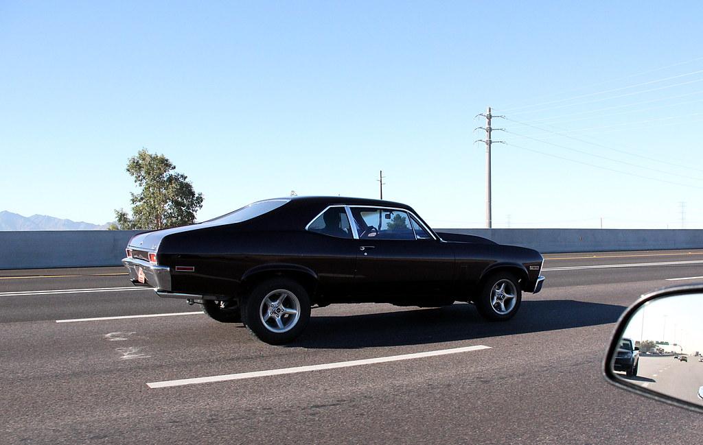 Chevy Nova I 10 A Bad Ass Nova Was Headed West Bound On