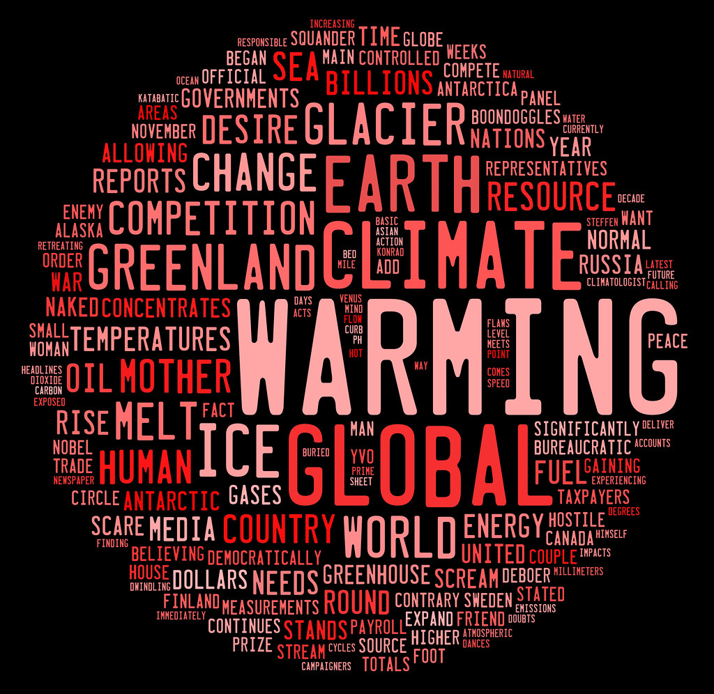 global warming graphic based on word frequency   woodleywonderworks global warming graphic based on word frequency by woodleywonderworks