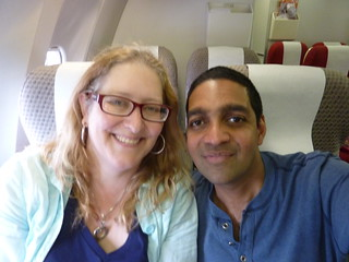 Julie and Sanjay Flying HIGH !!! ;-) | by Jennifer Kumar