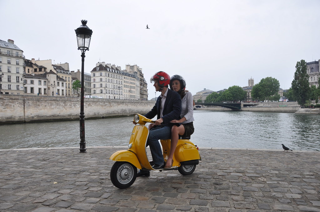 paris on a vintage vespa ride in the city of light this flickr. Black Bedroom Furniture Sets. Home Design Ideas