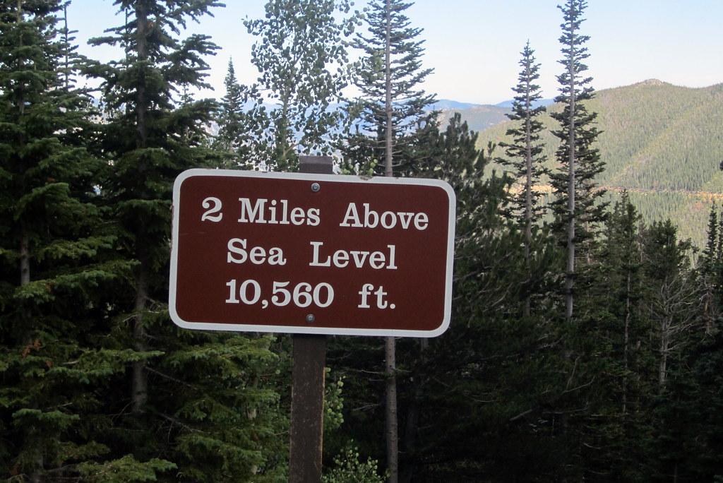 Colorado Rocky Mountain National Park Miles Above Sea Flickr - Level above sea level