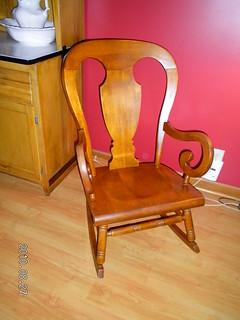 Tell City antique rocking chair $100  Beautiful, comfortabl ...