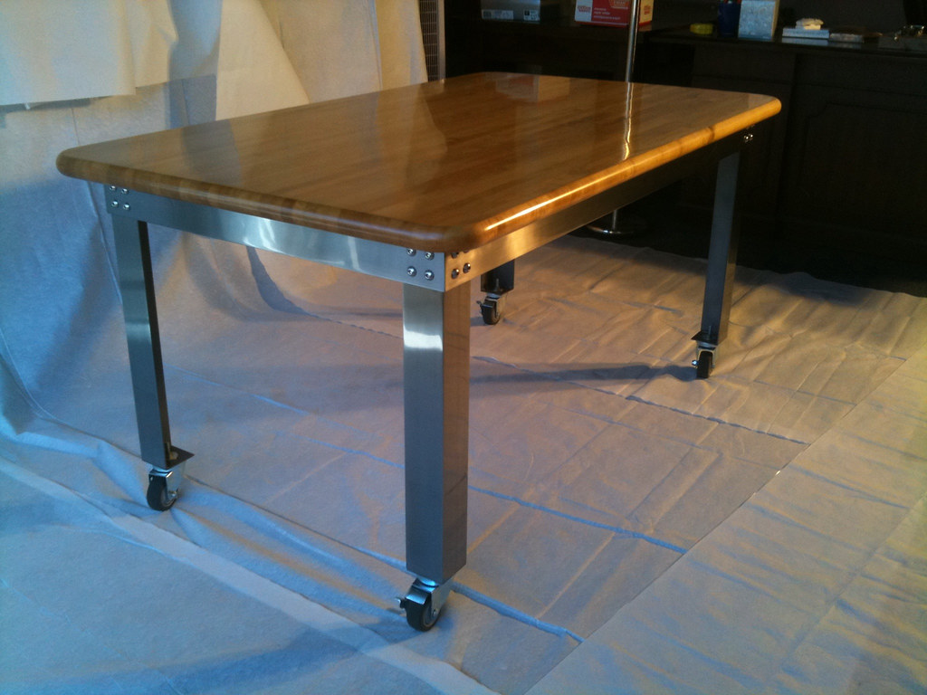 industrial kitchen table Modern Industrial Kitchen Table by bbakerdesign