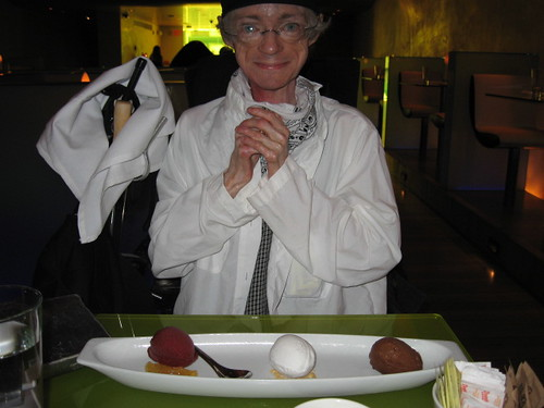 Cindy Contemplates Desert At Morimoto | by Cindy Woods