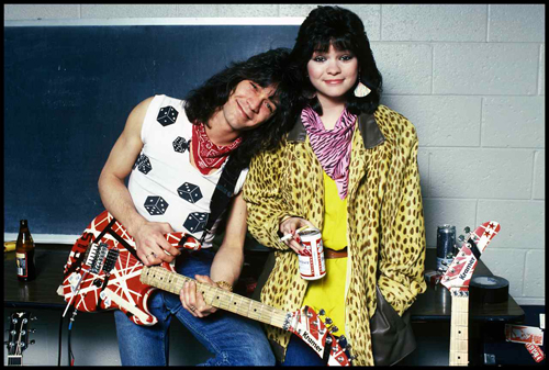 Eddie Van Halen 1984 Eddie Van Halen And Valerie