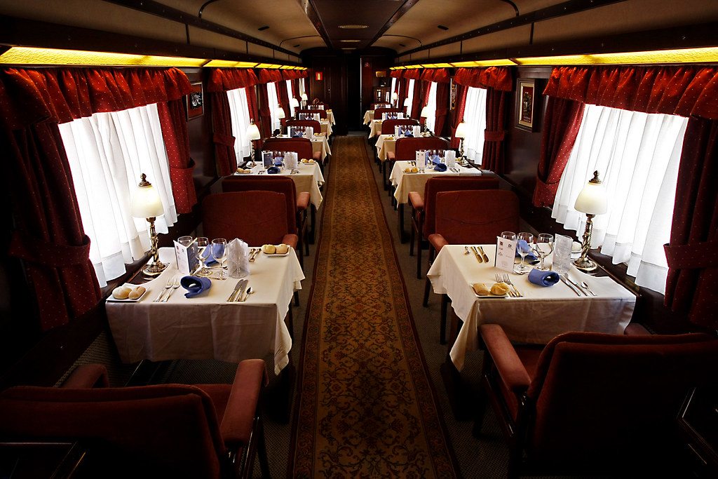 Image result for train dining car