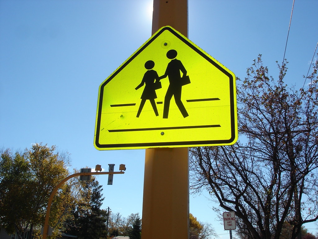 School Crossing | Shape: Sign: School Crossing Colors ...
