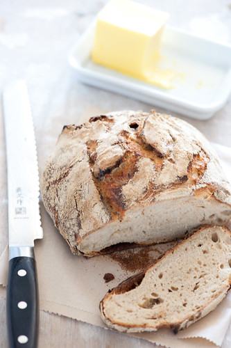 rustic homemade sourdough bread & butter | by jules:stonesoup