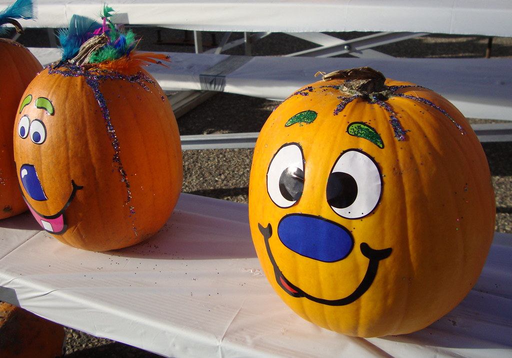 Painted Faces On Pumpkins Mark Flickr