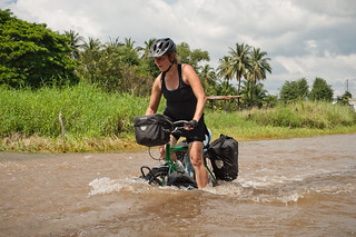 Tara Cycling in a Flood | by goingslowly