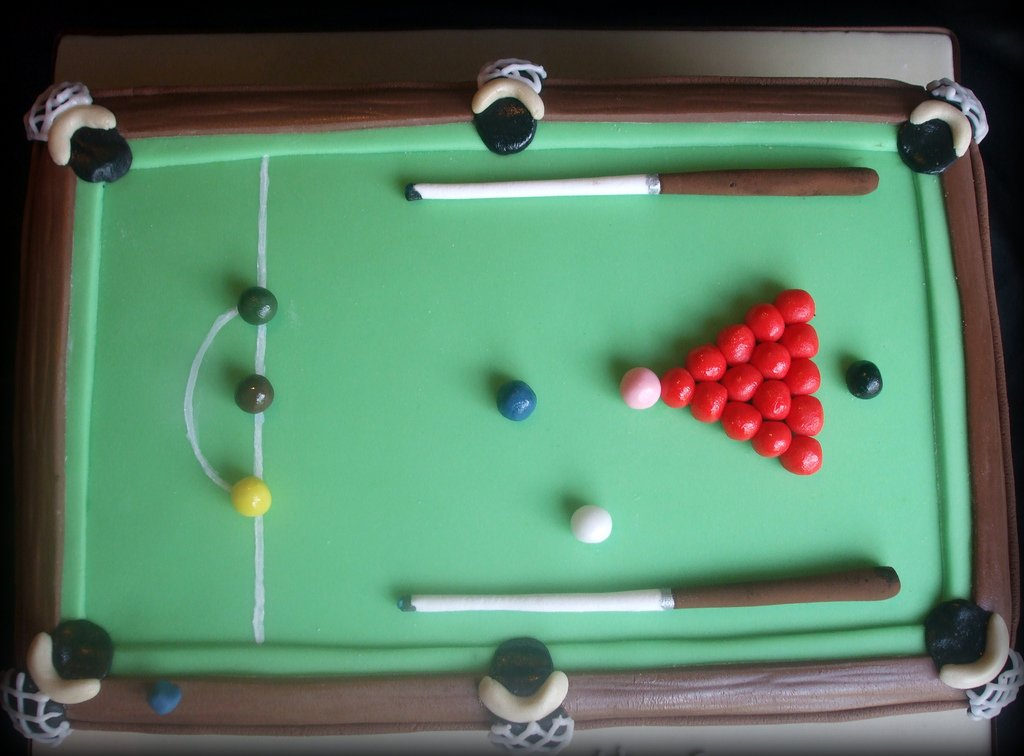 Snooker Table Cake View From Above Cake Debbie Scott