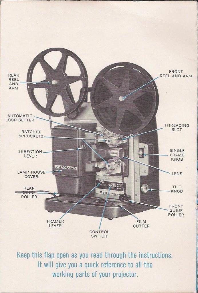 Bell  U0026 Howell Super 8 346 Manual  Part Diagram