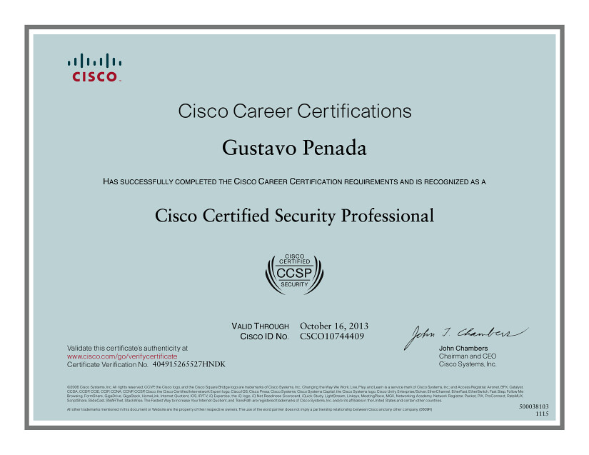 Cisco Certified Security Professional Certificate Certific Flickr
