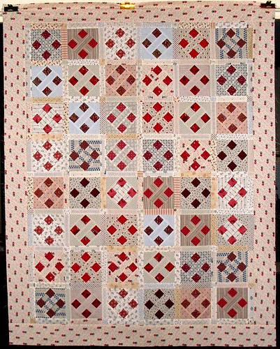 T-Red Squares with Shirtings | by Linda Rotz Miller Quilts & Quilt Tops