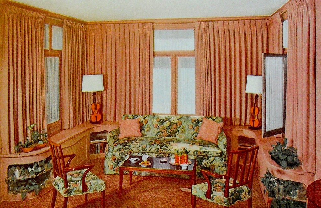 Living Room 1940s 1940s living room - a digital painting of an old 1940s living room
