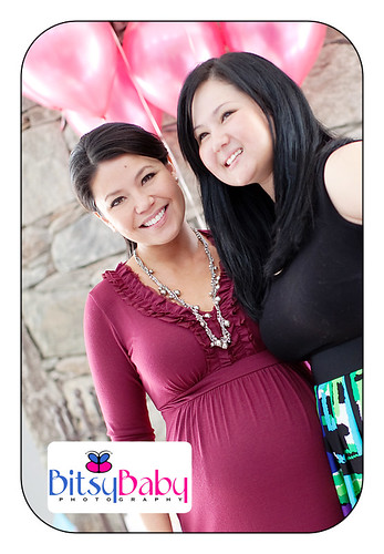 Angie and her sister Jenny who threw this amazing shower! | by Bitsy Baby Photography [Rita]