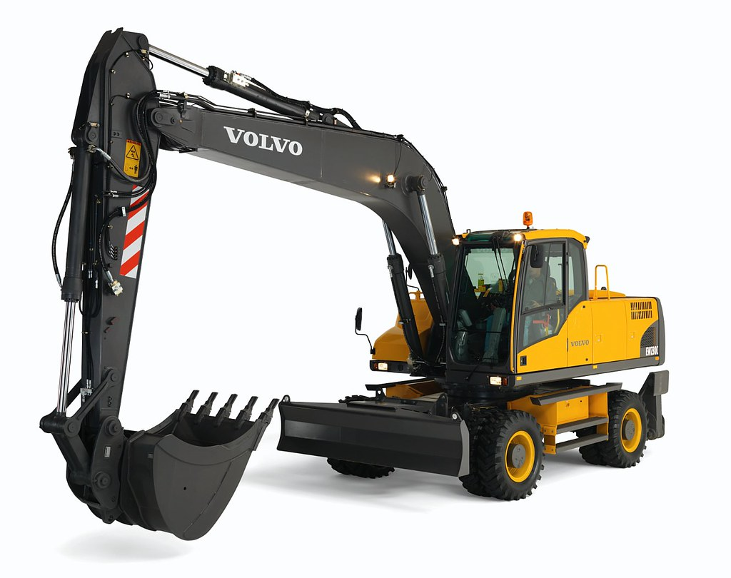 volvo ew230c wheeled excavator flickr. Black Bedroom Furniture Sets. Home Design Ideas