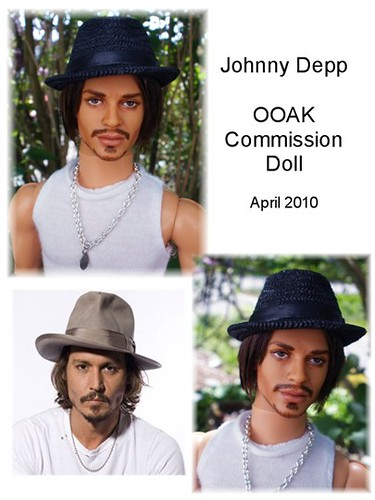 Johnny Depp Doll Repaint Commission | by Fantasy Dolls by Donna Anne