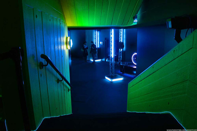 HP ePrint TRON: Legacy Experience - Heading towards the Light Cycle room - London Southbank