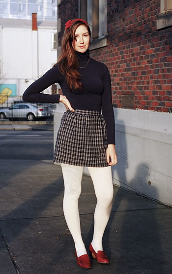 Skirt and pantyhose pics