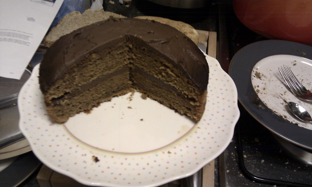 Mocha Cake With Buttercream Frosting