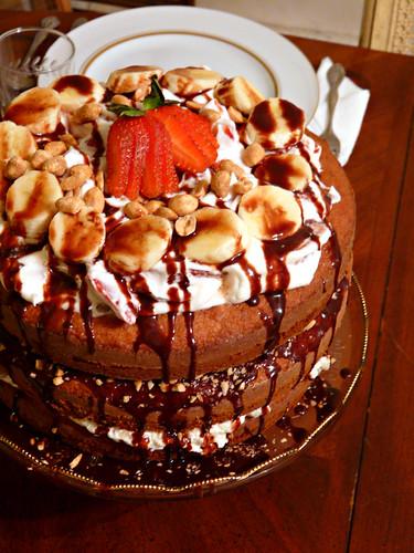 Banana Split Cake Cream Cheese Strawberries
