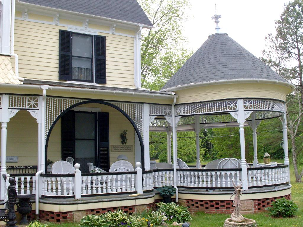 Gazebo Porch And Spandrel On The Hill There Are