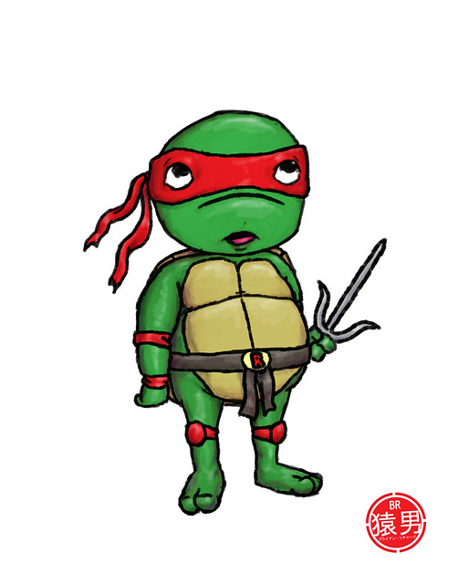 Raphael Ninja Turtle Drawing