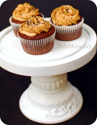 Chocolate Peanut Butter Cupcakes | by TidyMom {Cheryl}