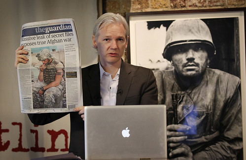 Julian Assange of WikiLeaks at Press Conference on Afghanistan War Diary Leaks | by On Being