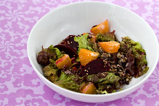Orange Sesame Wild Rice Salad With Roasted Beets | by isachandra