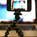 iPhone 4 on a gorillapod / tripod