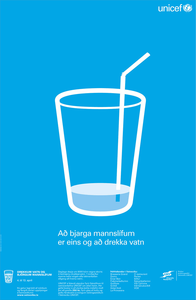 unicef tap project poster drink water save lives flickr