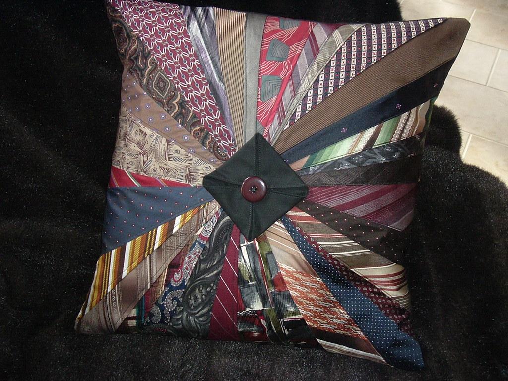 Necktie Starburst Pillow Made For Don Wilson From Bv Wil