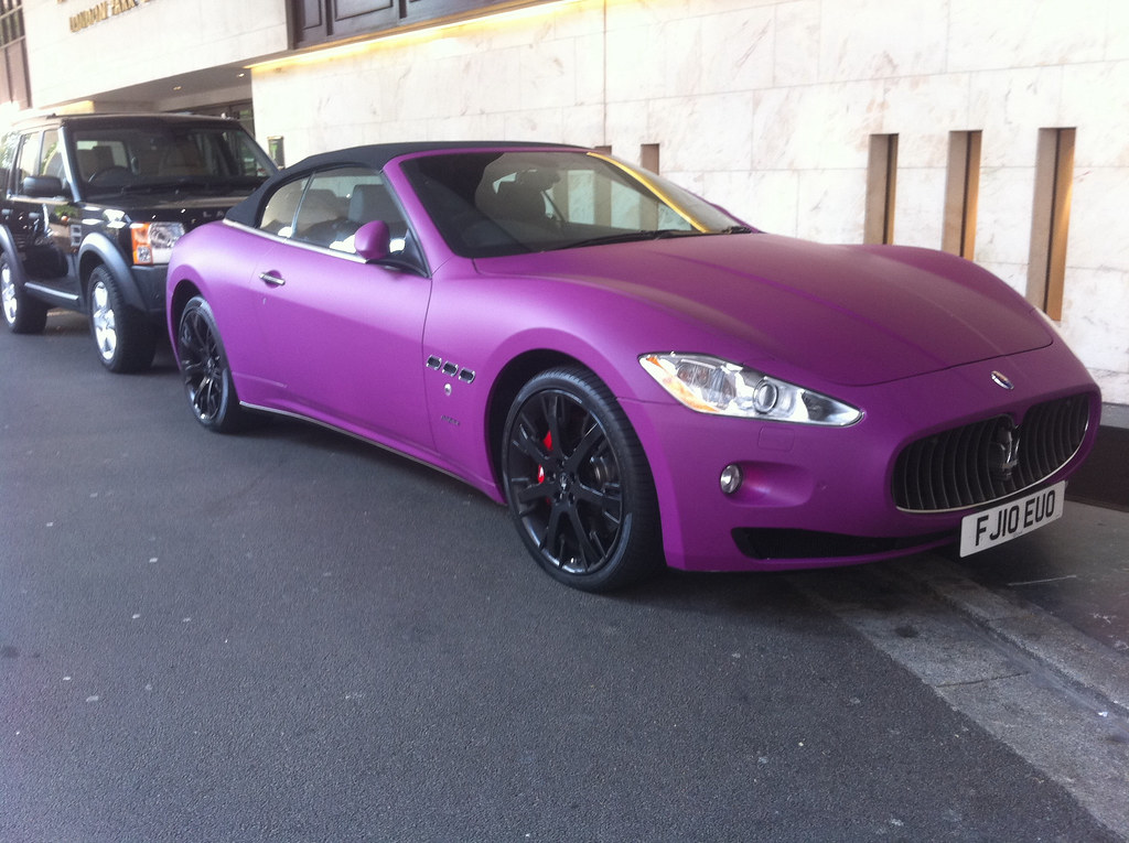 Purple Maserati Sports Car Altaaf Kazi Flickr